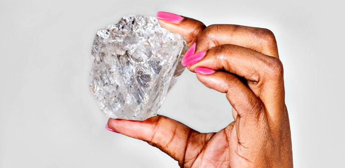 In this undated handout provided by the Lucara Diamond Corporation, a 1,111-carat gem quality, Type