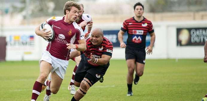 Doha hand Saracens their first defeat to go top of the table