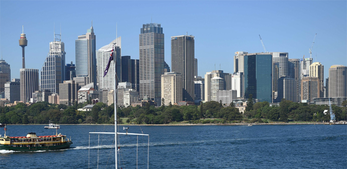 Sydney's skyline from Fort Denison in Sydney Harbour