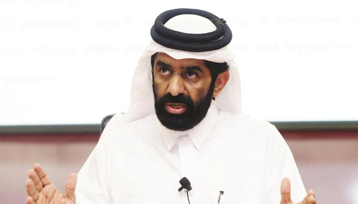 HE the Minister of Development Planning and Statistics Dr Saleh Mohamed Salem al-Nabit.