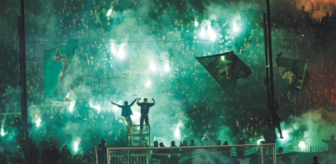 Panathinaikos blame referee for Athens derby violence