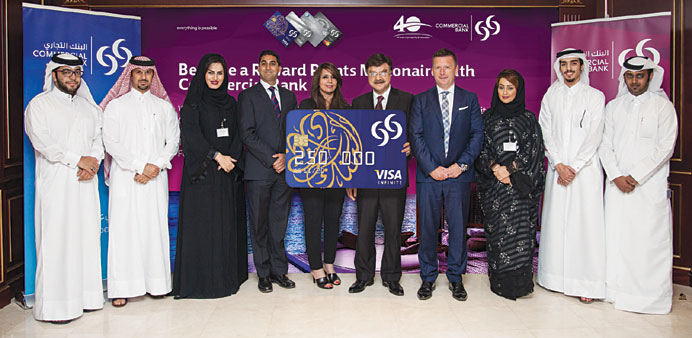 """Commercial Bank officials during the announcement of the first """"Reward Points Millionaire"""" campaign"""