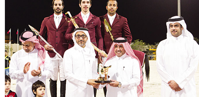 UDC awarded for its gold sponsorship of HH The Emir's Sword Show Jumping