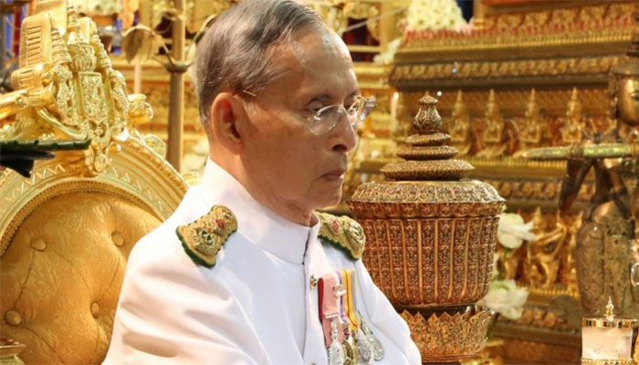 Doctors alleviate water on the brain build-up for Thai king