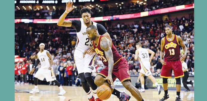 Pelicans repel James and Cavs as Davis shines in overtime