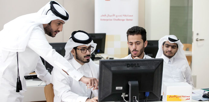 Participants in the Enterprise Challenge Qatar competition.