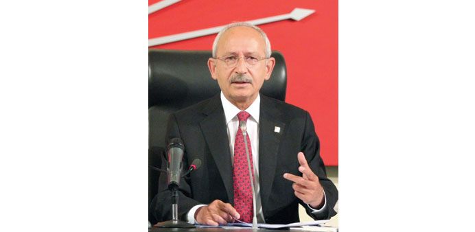 Turkish opposition parties should form govt: CHP leader