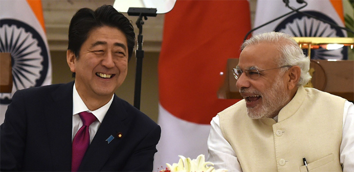 Japan and India agrees bullet train, nuclear deals