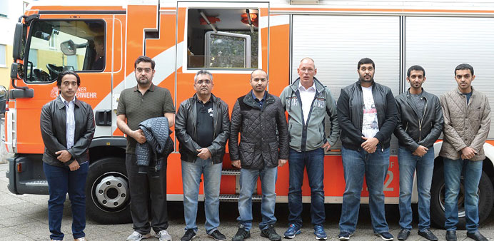 Delegates from Qatar Rail and Qatar Civil Defence in Berlin.