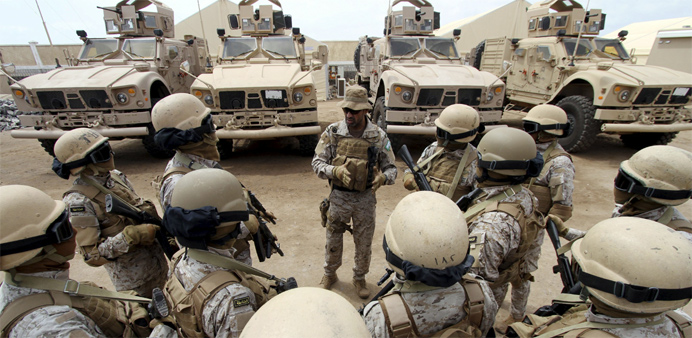Saudi forces in Yemen's southern port city of Aden