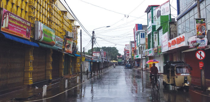 Transport services were crippled and schools and businesses were shut in parts of Sri Lanka yesterda