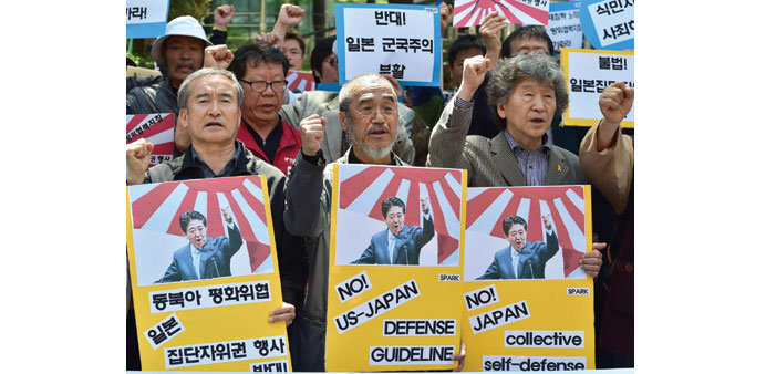 Rival Koreas slam lack of Abe apology