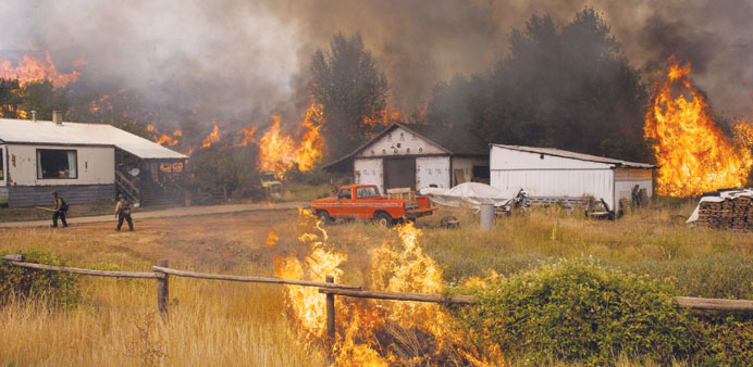 Wildfires force new evacuation orders in Washington state
