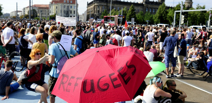 German media and celebs rally for refugees after ugly protests
