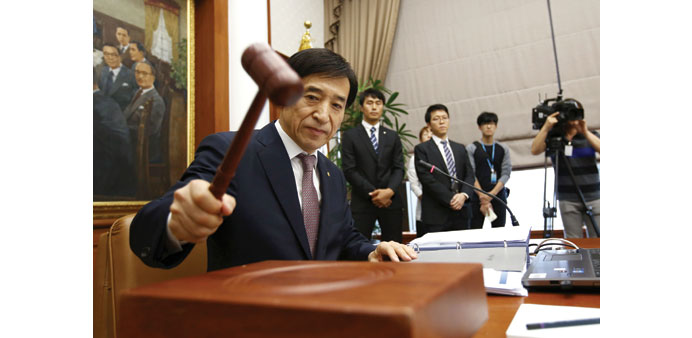 Bank of Korea holds rates ahead of Fed call