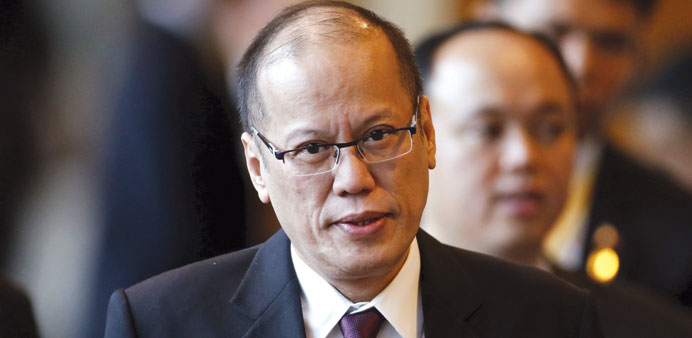 President Benigno Aquino at a session of the 27th Association of Southeast Asian Nations (Asean) Sum