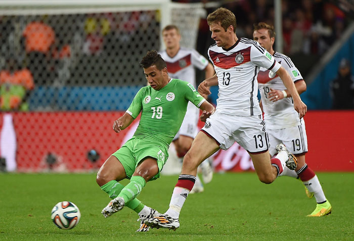Germany and  Algeria goalless at halftime