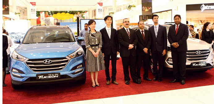 National Car Company and Hyundai officials with the all-new Tucson at the launch event.