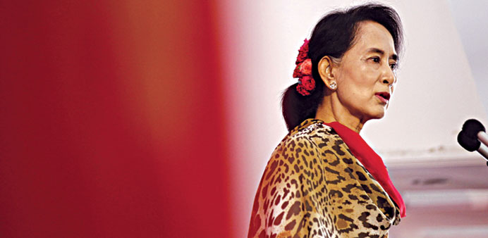 Myanmar opposition led by Aung San Suu Kyi is raising pressure in battle over constitution.