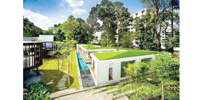 NATURAL COOLING: A house with a green roof. The event will bring pioneering knowledge on Green Roofs