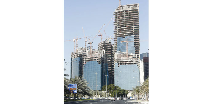 The new headquarters of Qatar Petroleum headquarters, which is under construction.