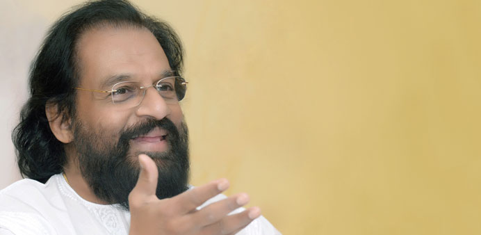 Yesudas : All set for classical concert tomorrow. PICTURE: Jayan Orma