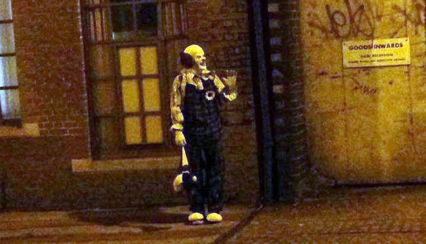 A clown spotted in Northampton