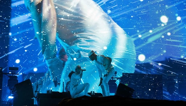 American electronic music band Major Lazer performs during day 1 of Austin City Limits Music Festiva