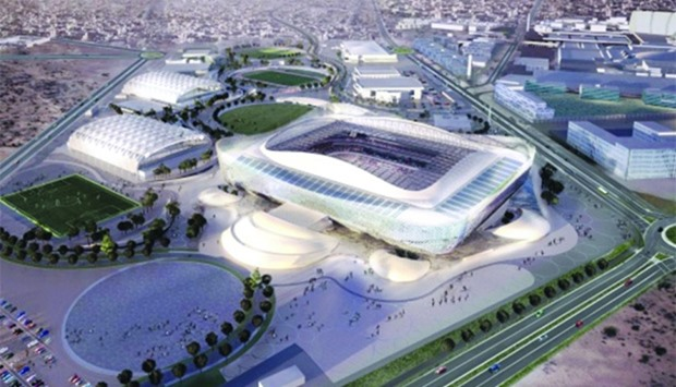 Architect's impression of Al Rayyan Stadium