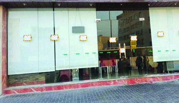 One of the restaurants closed by Doha Municipality