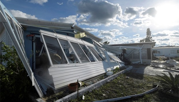 Damage to homes are seen in the aftermath of Hurricane Matthew