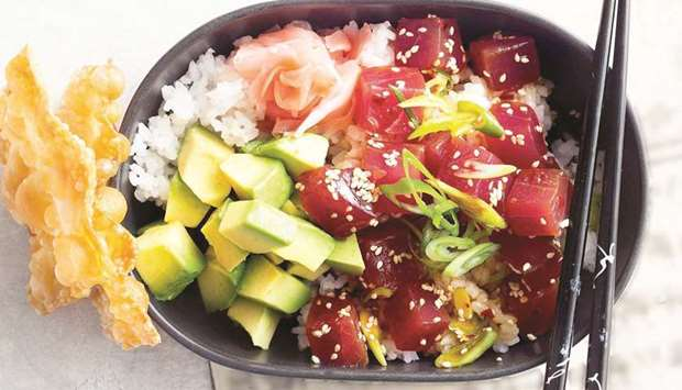 SIMPLE: The technique for making poke is very simple and basic. Photo by the author