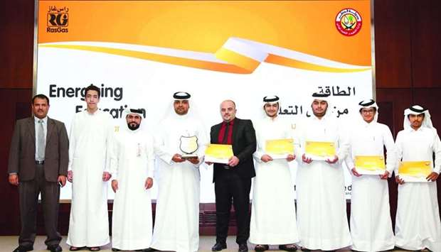 'Qatar Helium' competition winners awarded by RasGas and the Ministry of Education and Higher Educat