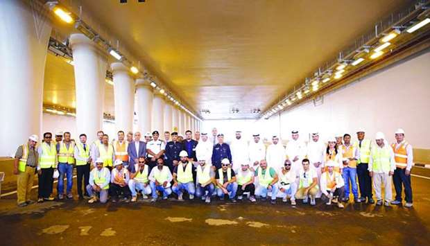 Officials have said the new underpass is expected to significantly improve traffic flow between the