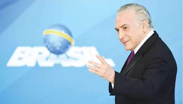 Temer: aides said the president will now be able to get on with his economic policy agenda.
