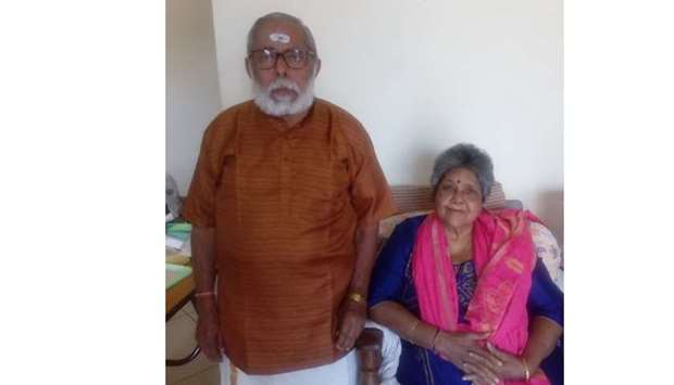 Lalitha with her husband T M Anantharaman