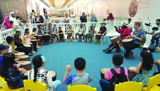 Participants of 'Making Melodies' enjoy a drumming session. PICTURES: Joey Aguilar