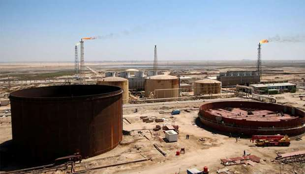 A general view shows the al-Shuaiba oil refinery in southwest Basra, Iraq