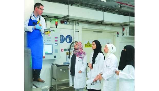 Students from Qatar University learned about biobanking and other laboratory techniques during the p