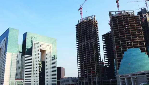 New buildings under construction in Doha (file).