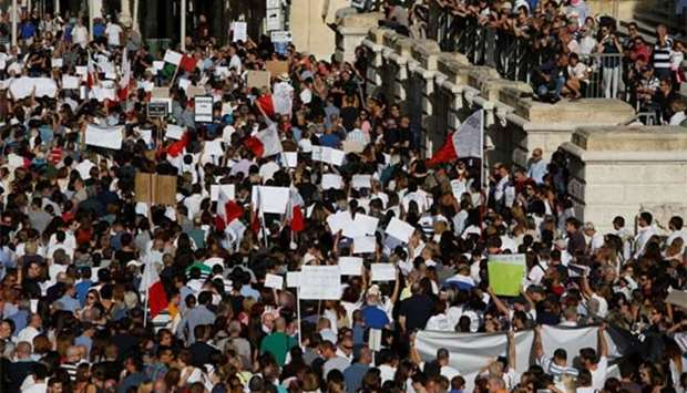 Malta protesters demand justice over journalist's murder