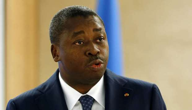Togo's president Faure Essozimna Gnassingbe addresses the 31st session of the Human Rights Council a