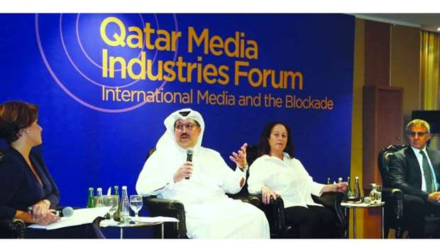 The panelists highlighting some of the important issues of the Gulf Crisis