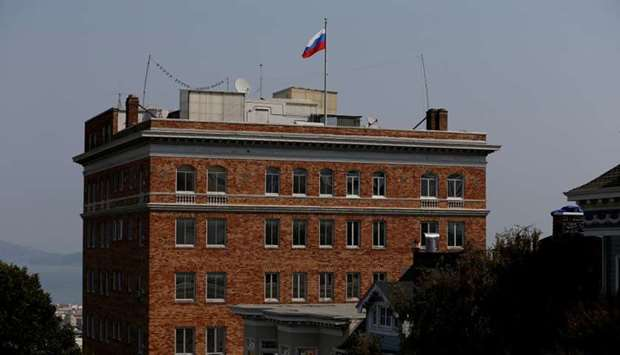 The Consulate General of Russia is seen in San Francisco, California, US