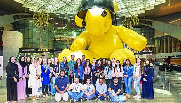The SC youth panel at Hamad International Airport