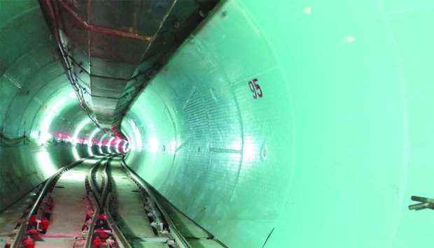 A view of a section of the main trunk sewer which is completed