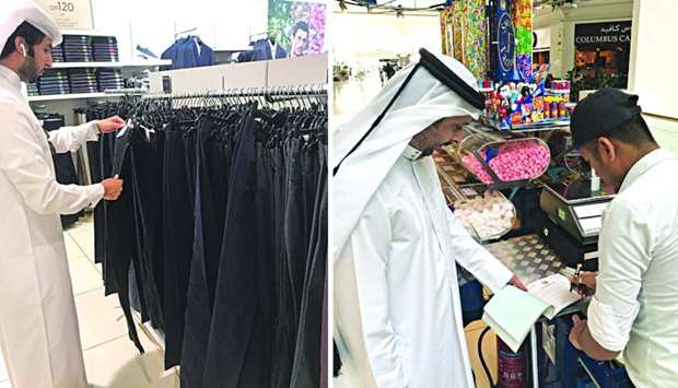 The inspection campaign was carried out in malls.