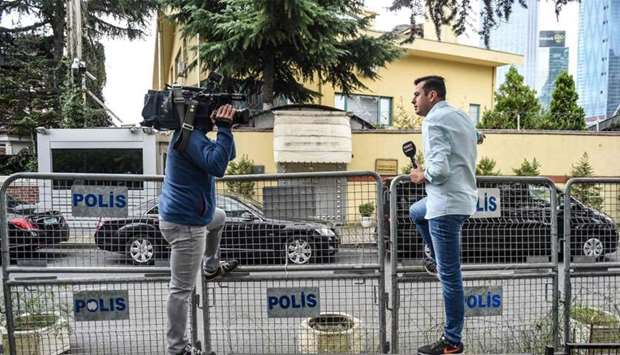 Journalists report outside Saudi Arabia's consulate in Istanbul