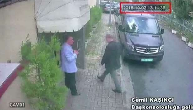 A still image taken from CCTV video and obtained by TRT World claims to show Saudi journalist Jamal