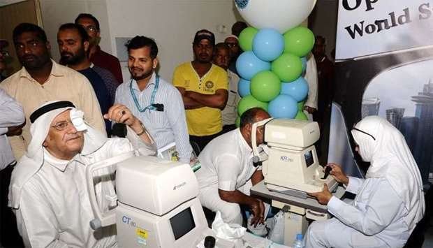 HMC's Ophthalmology Department offered free eye examinations and other tests for hospital visitors a